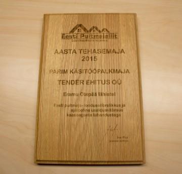 Tender - parim käsitööpalkmaja 2015