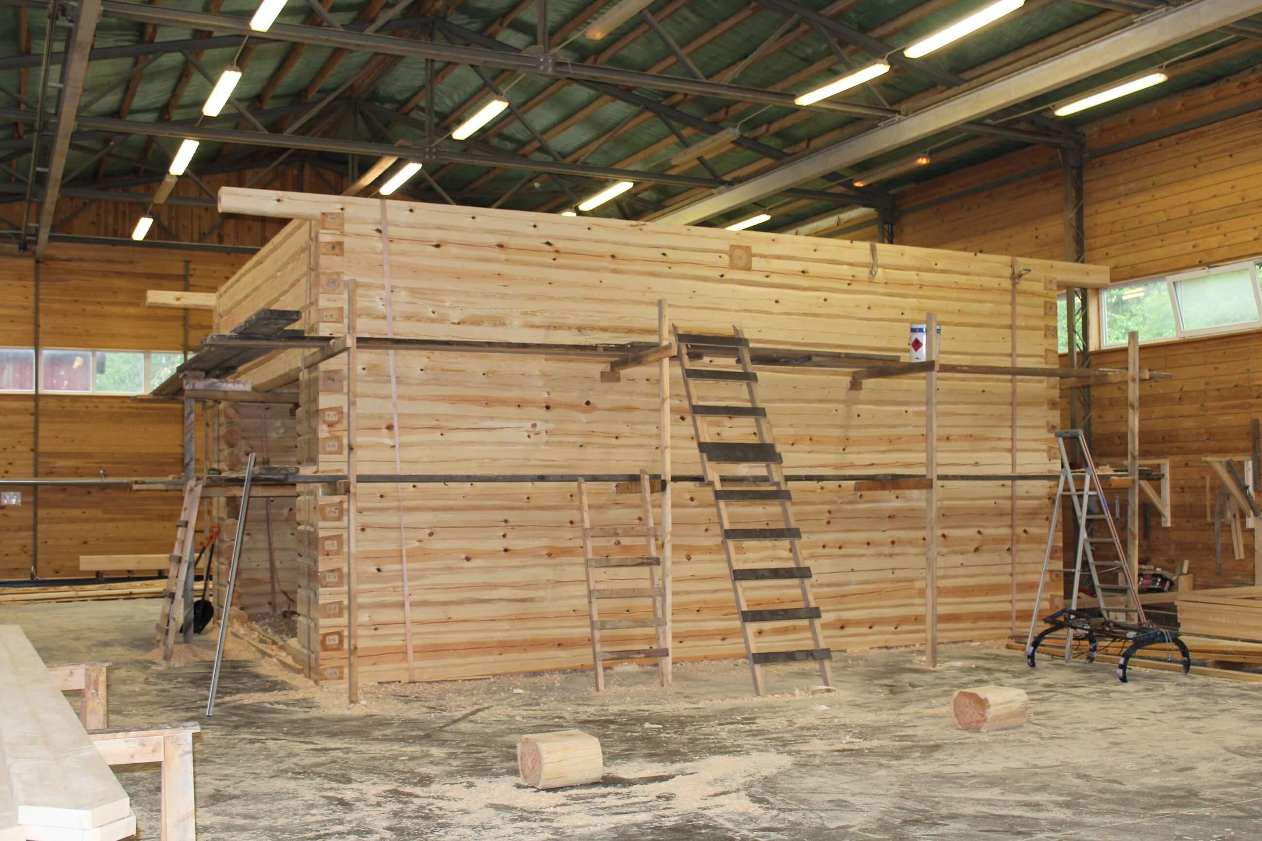 hirsirakentaminen hirsitalon-rakentaminen-Tudun-tehtaalla
